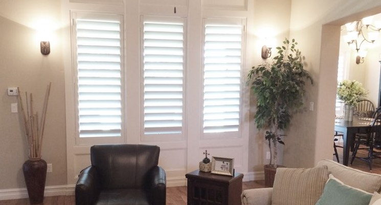 Orlando living room white shutters